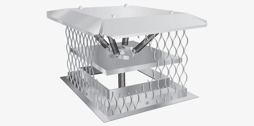 CHIM-A-LATOR Top Sealing Chimney Damper | Bernard Dalsin Manufacturing